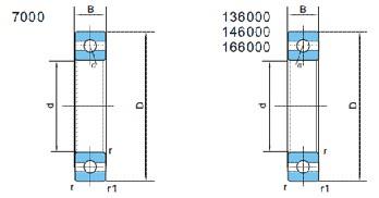 精密角接触球轴承(d12~220)