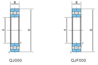 精密四点角接触球轴承(d120~360)