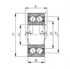 双列角接触球轴承(d10~110)