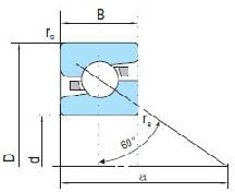 滚珠丝杠用角接触推力球轴承
