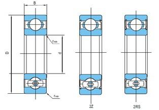 不锈钢深沟球轴承(d10~80)
