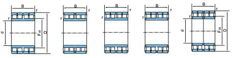 四列圆柱滚子轴承(90~1000)