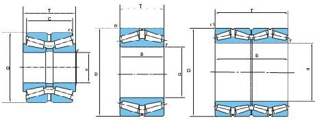 英制双列圆锥滚子轴承(d200~710)