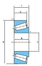 大型英制单列圆锥滚子轴承(d206~762)