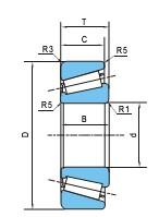 单列圆锥滚子轴承(d30~150)