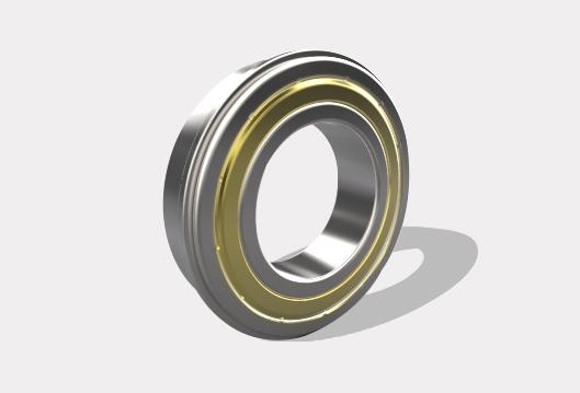 带止动槽和防尘盖的单列  d 10-60mm