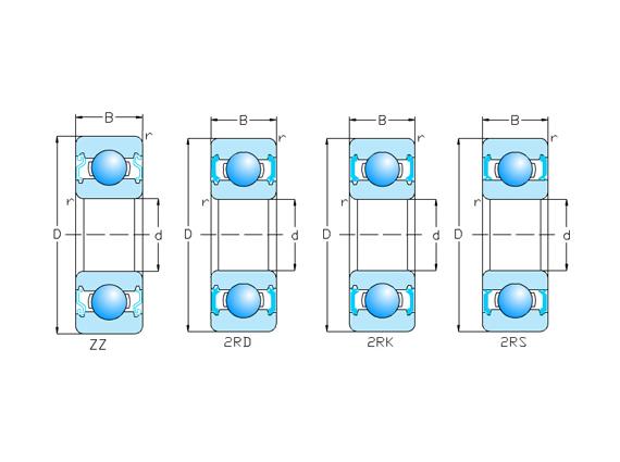 帶防塵蓋,密封圈型 62/Z,ZZ,RS,2RS,2RD,2RK系列