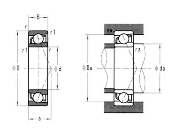 440C不銹鋼角接觸軸承