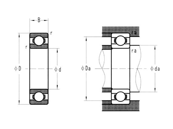 440C不銹鋼深溝球軸承(開式、ZZ、2RS)
