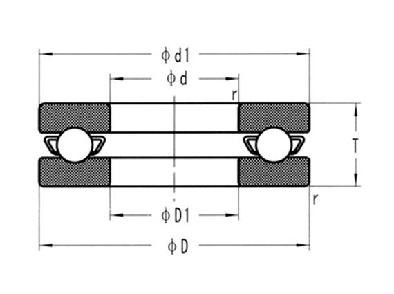 316不銹鋼推力球軸承