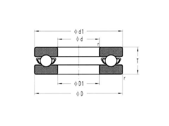 不銹鋼微型平面推力軸承