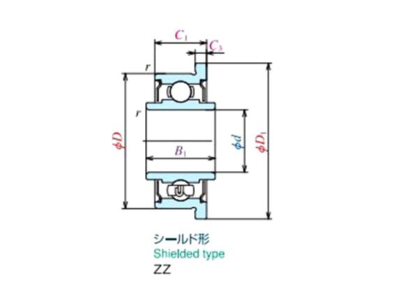 不銹鋼內圈加長法蘭軸承(開式、ZZ、2RS)