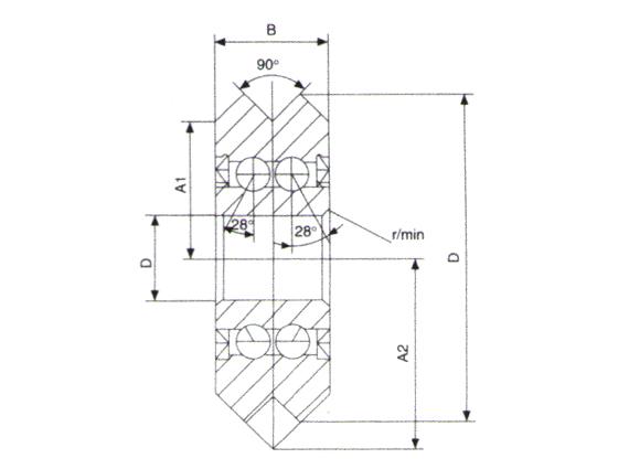 W型導軌用導向滾輪