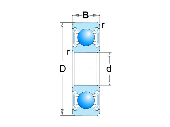 深溝球 微型、小型公制  SS68...ZZ系列