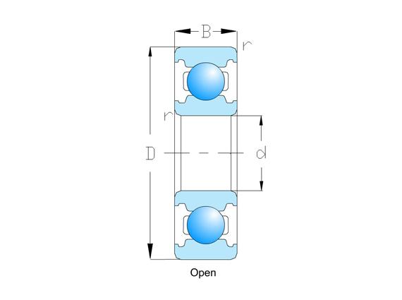 深溝球 微型、小型英制  SSFR系列