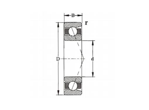 单列角接触球轴承