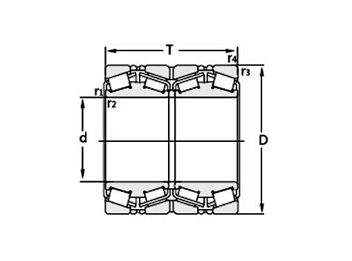 四列圆锥滚子轴承密封结构