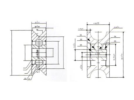 V或者U型槽轴承系列