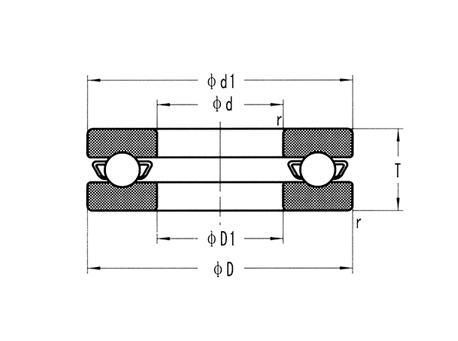 不锈钢推力球轴承