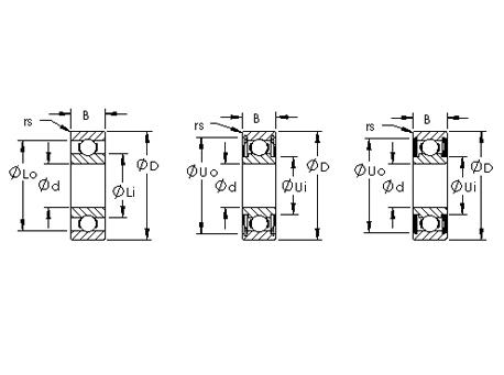 单列公制深沟球轴承(开式、ZZ、2RS)