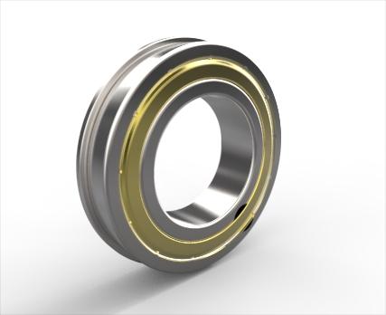 带装球缺口、止动槽和止动环的单列深沟球轴承d 25-95mm