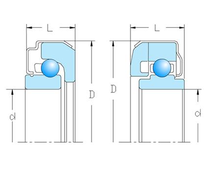 带密封角接触轴承