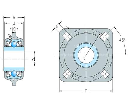 方孔农机轴承组件