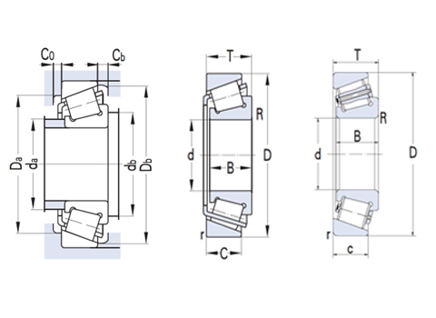 Metric tapered roller bearing (CAD)