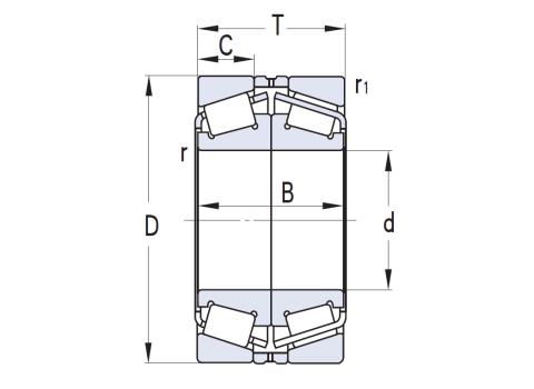 配對雙列圓錐滾子軸承(CAD)