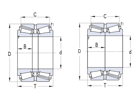 British double row tapered roller (CAD)