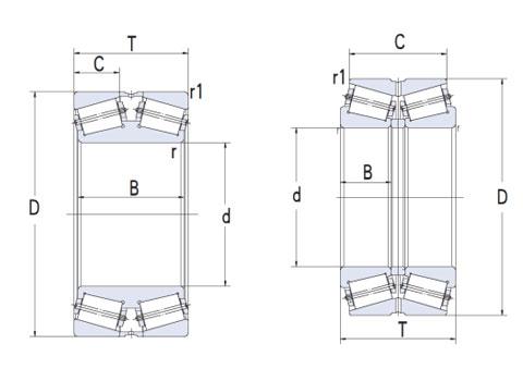 英制雙列圓錐滾子(CAD)