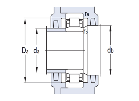 Single row cylindrical roller bearing (CAD)