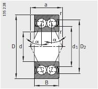38..-B-2RSR、32..-B-2RSR、 33..-B-2RSR <br/>α= 25°