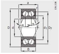 38..-B-2RSR <br/>α=25°
