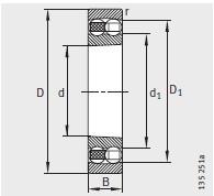 圆锥孔 <br/>K = 锥度1:12