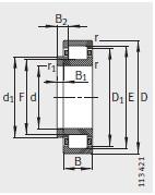 NJ + HJ 型 <br/>定位轴承