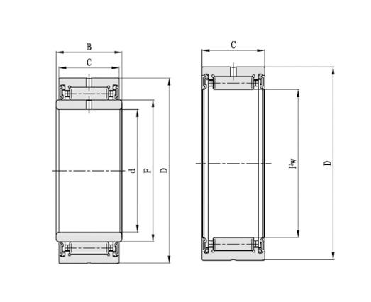 密封型重载滚针轴承-有内圈/无内圈