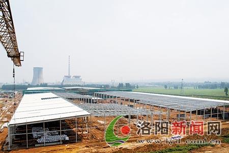 新洛轴工程仨子项目钢架结构厂房已初现雏形〔图〕