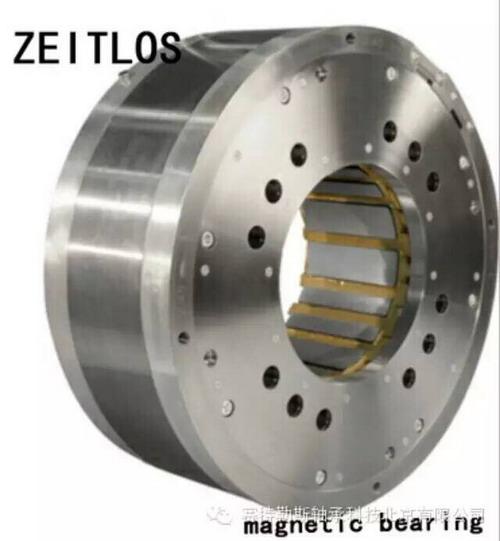 用磁悬浮轴承支撑电机,电机定,转子没有直接接触,转速不再受到机械