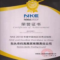 """约克商贸荣获""""NKE 2018年度中国地区优秀经销商""""荣誉称号"""