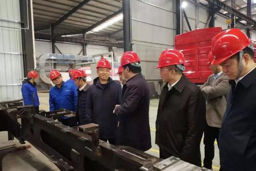 宁乡市委副书记、市长付旭明一行到长沙科美机械公司考察(图)
