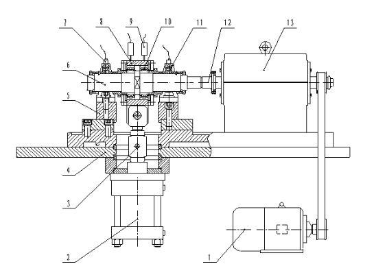 此试验机主体结构符合外球面轴承的工况要求