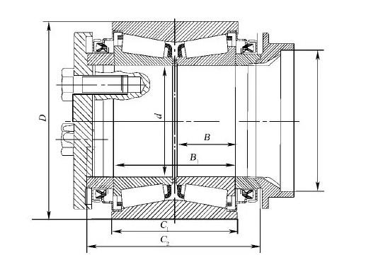 我国主型铁路货车无轴箱双列圆锥滚子轴承结构型式简介