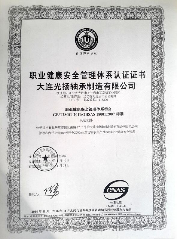 职业健康管理体系认证