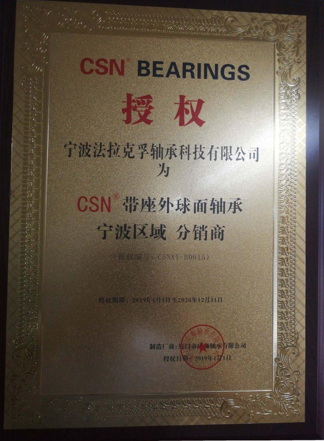 2019年CSN授权书