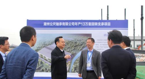 湖州市委副书记、市长王纲调研公尺轴承新项目