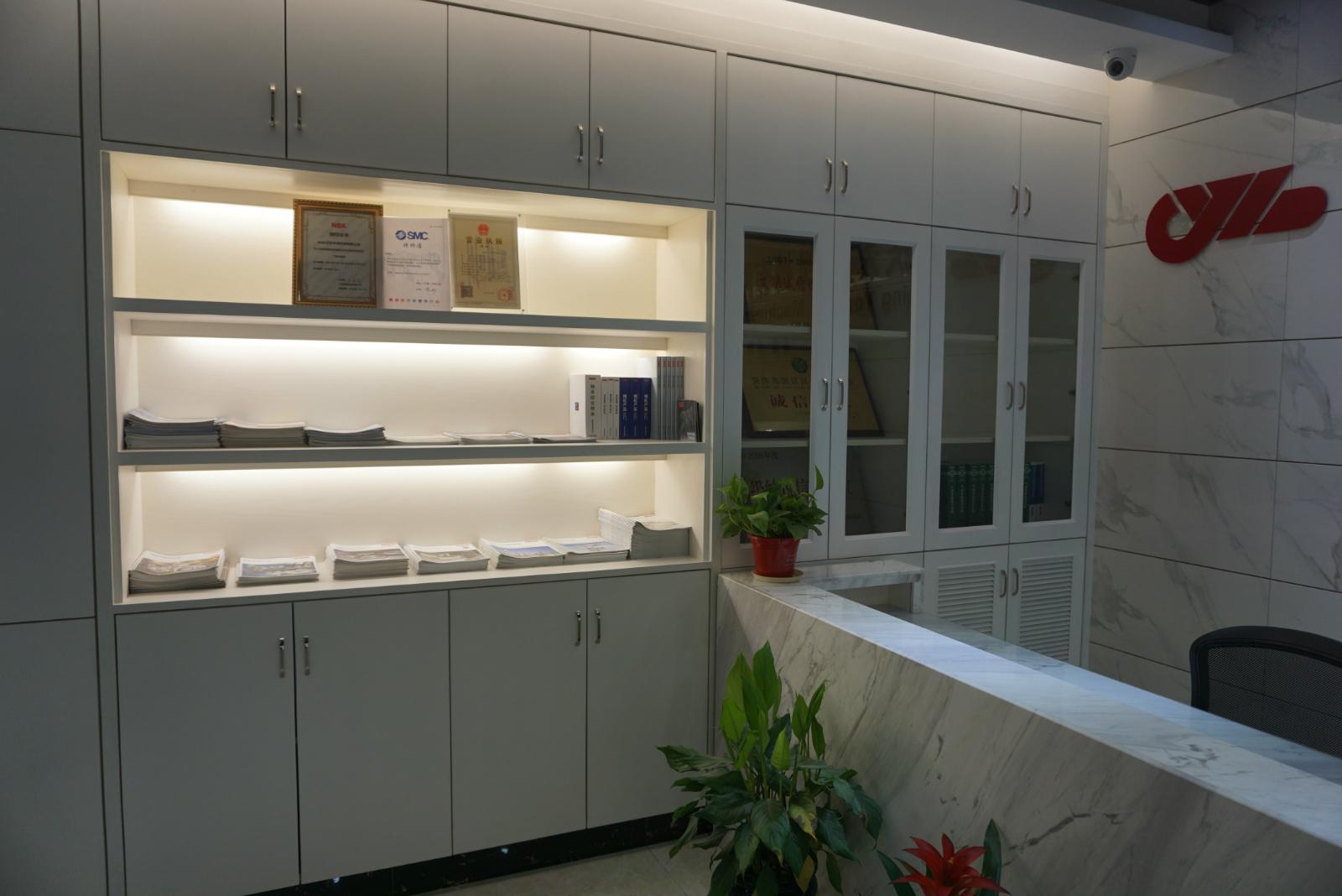 办公室前台展示柜